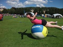 Aurelie having a ball !