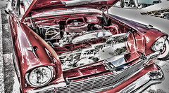 Classic Car (DonMiller_ToGo) Tags: pink red cars catchycolors autos hdr classiccars gf1 views100 5xp hdrphotography