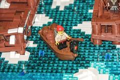 Lake-Town (SEdmison) Tags: lego thehobbit emeraldcitycomicon eccc laketown esgaroth archlug eccc2014 emeraldcitycomicon2014