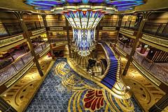 An Elegant Dream (NYRBlue94) Tags: ocean voyage park cruise blue sea vacation vintage boat stair paradise ship dream disney line atlantic lobby deck chandelier staircase sail bahamas nassau hdr midship