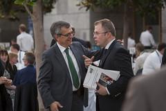 José Viegas greeting Antoine Feral