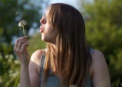Make a wish (sosij) Tags: blowing dandelion makeawish