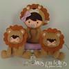 Safari Baby leãozinhos (artesemfeltrosbyjulianacwikla) Tags: baby safari enfeites feltro decoração festas maternidade lembrancinhas guirlandas