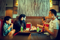 Like Father, Like Son (Tin V) Tags: street boy toronto ontario canada colour asian photography 50mm mcdonalds fries ais f12 nikkor50mmf12 tienvu nikondf
