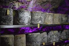 Cheddar Cheese at Wookey Hole (CoasterMadMatt) Tags: show uk greatbritain england food southwest west english june rock cheese underground photography nikon rocks hole p