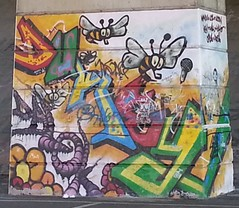 """Mural Painted on Runcorn-Widnes Bridge Supports • <a style=""""font-size:0.8em;"""" href=""""http://www.flickr.com/photos/9840291@N03/14476780396/"""" target=""""_blank"""">View on Flickr</a>"""