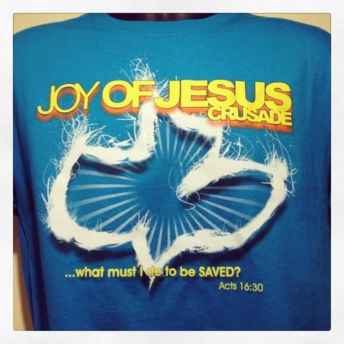 Joy of Jesus shirt for the event tomorrow! #calvarychapel