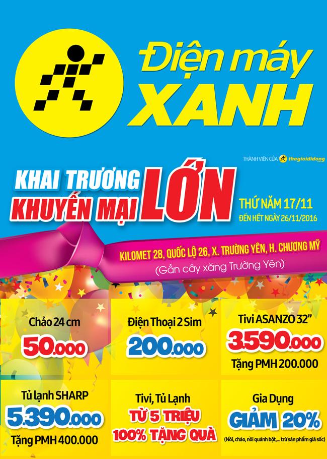 Khai trương siêu thị Điện máy XANH Trường Yên, Hà Nội