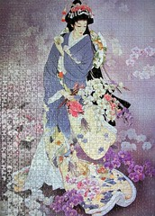 Flowers of the Orient 2 (pefkosmad) Tags: jigsaw puzzle leisure hobby pastime 1000pieces complete geisha woman girl japan