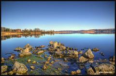 SHABBONA LAKE STATE PARK, SHABBONA, IL (WDB PIXWORKX) Tags: hdr photomatix tonemapping nikon d610 shabbonalake statepark illinois lake rocks topazlabs blueskies autumn reflections serene centralillinois