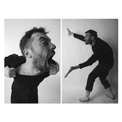 (andrei_rublevik) Tags: blackandwhite monochrome artphoto bw model conceptual studio portrait diptych expression
