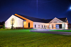 Cornerstone Church - South Wyoming (Wheels0409) Tags: christian church cornerstonechurch cornerstone hdr hdrphotography highdynamicrange aurorahdr canonphotography canon canon5dmarkiii canonworldwide composite michigan kentcounty wyoming night october nighttime nightsky nightskyobservation starynight colors colorful stars astronomy wideangle photography perspective landscape landscapephotography exterior building outdoor architecture