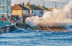 Seaburn Waves (robinta) Tags: wave surf seascape sea ocean tide telephoto city urban prom buildings water colour autumn evening pentax ks1 sigma18200mmhsmc