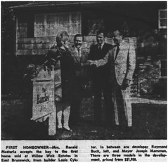 Key acceptance at Willow Wicks Estate, 1969 (Ereiss1) Tags: vintage eastbrunswick nj