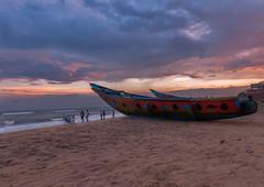 Gopalpur Sea Beach, Odisha, India (rahul_th) Tags: kitewithoutstring nikond5500 sea seascape seaside clouds cloudscape landscape boat