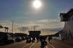 Imbarco (Martina Santucci) Tags: croazia croatia hrvatska spalato split city citt light luce lights luci colori colors ombre shadows porto port traghetto ferry boat nave