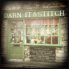 Darn It & Stitch (breakbeat) Tags: hipstamatic oxford instameet instagrammeetup photowalk city hipstamaticapp darnitandstitch sewingshop knitting yarn haberdashery sign signage store front windows text advert board door