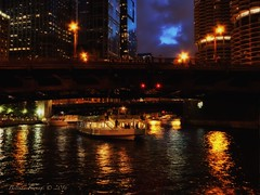 Night in Chicago (Belinda Fewings (3 million views. Thank You)) Tags: belindafewings panasoniclumixdmc bokeh city street seaside colour colourful artistic pbwa creativeartphotograhy creative arty beautiful beautify beauty lovely outdoors outside out best depthoffield garden color colours colors interesting interest chicago architecture illinois building night lucia wabashavenue bridge usaunitedstatesofamerica usa sign signs neon