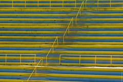 yellow stands (loop_oh) Tags: bergiselsprungschanzestadion fis fisskijumpingworldcup fourhillstournament sprungschanze worldcup zahahadid alps austria bergiselschanze hill inn innsbruck oesterreich schanze skijumping skijumpinghill stadion tirol sterreich stand stands audience observer viewer spectator bystander onlooker viewership terraces section seats rail rails stair stairs