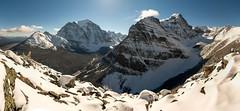 Bow Range (Christian Nesset) Tags: bow range lake louise panorama mountains mountain rocky winter snow powder temple valley canada