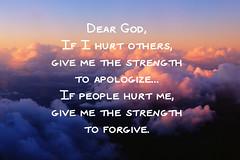 Dear God (tcjakob) Tags: god hurt others strength apologize forgive clouds blue orange black