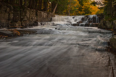 Looking Up (eahackne) Tags: waterfall fall autumn color quartzitefalls upperpeninsula slateriver