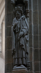 St Edward the Confessor (Lawrence OP) Tags: edward saints ampleforth abbey church benedictine monks stone baldachino carvings sculpture bluehornton confessor king