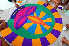 Diwali 2016 #1 (*Amanda Richards) Tags: diwali guyana guyanahindudharmicsabha georgetown rangoli creatingrangoli rice colours colouredrice hindu festivaloflights darkestnight