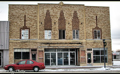 Nov 2010 - Old Kerby Theater Worland Wyo., built in 1938. (lazy_photog) Tags: lazy photog elliott photography kerby theater theatre worland wyoming childhood entertainment first date with wife