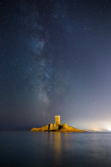Milky Way Island (jpmiss) Tags: night 24mm landscape milkyway stars samyang var canon nuit frenchriviera sea longexposure paysage jpmiss mer astroscape france iledor 6d dramont ctedazur nightscape voielacte paca toiles ctedazur voielacte toiles saintraphal provencealpesctedazur fr light pollution lightpollution