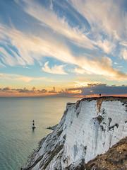 IMG_1783-HDR (RobinGertenbach) Tags: eastbourne beachy head sea essex great britain cliff coast shore lighthouse sunset cloud landscape seascape