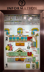 In Honolulu International Airport - Information Display (Victor Wong (sfe-co2)) Tags: honolulu international airport information display hawaii usa indoor panel booth schematic diagram layout sign signboard board