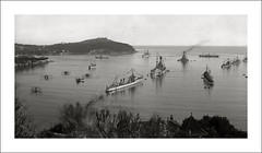 French Fleet at Villefranche, France (Steve Given) Tags: warship navy french france destroyer 1920s fleet harbour harbor