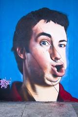 Écrasement facial (Gerard Hermand) Tags: 1609043872 gerardhermand france bordeaux canon eos5dmarkii formatportrait jeanrooble lesfrèrescoulure shakeyourface art rue street streetart peinture paint bombe spray aerosol homme man visage face