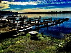Blue morning (Dennis Sparks) Tags: docks michigan springlake morning color iphone