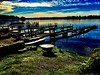 Blue morning… (Dennis Sparks) Tags: docks michigan springlake morning color iphone