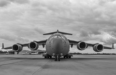 Boeing C-17 with moody skies! (RaulCano82) Tags: blackandwhite bw boeing c17 boeingc17 khou hou houston texas tx cloudy moody raulcano canon canon70d