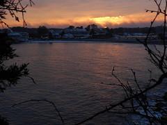 Fire in the sky (SierraSunrise) Tags: yorkharbor maine me coast newengland usa skies sky sunset beach ocean atlantic