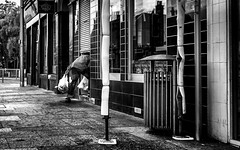 Last minute shopping. (Mister G.C.) Tags: blackandwhite bw ricoh ricohgr streetphotography urbanphotography candid image streetshot people photograph monochrome urban town city doorway shutters decisivemoment shops shopping zonefocus zonefocusing snapfocus pointshoot mistergc schwarzweiss strassenfotografie scotland britain greatbritain gb british uk unitedkingdom europe