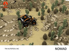 Ariel Nomad - Dune Racer (lego911) Tags: ariel tmi industries nomad offroad dune racer buggy auto car moc model miniland lego lego911 ldd render cad povray lugnuts challenge 108 9th birthday lugnutsturnsnine turns nine byrequest by request 4x4 dust desert runner 2015