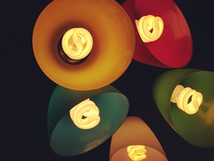 We're there's light there's darkness. (Mr.Machain) Tags: appleiphonecamera iphonecamera photo readinglamps bedroomlamps roomlamp dark multiplelamps multiplecolors nightlight lamp darkness color bulbs lightbulbs light colors