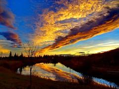 A November sunset on Bluebird Estates (+3) (peggyhr) Tags: peggyhr sunset clouds trees hills lake reflections sky water dsc07602a bluebirdestates alberta canada frameit~level01~ rainbowofnaturelevel1red level1photographyforrecreation thelooklevel1red level1peaceawards infinitexposurel1 niceasitgets~level1 30faves~ thelooklevel2yellow musictomyeyes~l1 thelooklevel3orange thebestshots infinitexposurel2 super~sixstage2silver onlylandscapesandsunsets thebestpicturesofreflections thelooklevel4purple thegalaxy cliqueforfriendsandartists 90faves~ thegalaxyhalloffame super~sixstage3gold super~sixstage4art super~sixstage5elite