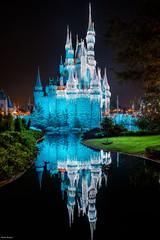 Castle Reflections (mwjw) Tags: disney disneyworld magickingdom orlando florida mwjw markwalter nikon24120mm nightshot longexposure castle cinderella