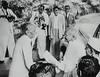 Jinnah receiving Gandhi (Doc Kazi) Tags: pakistan india independence negotiations ceremonies jinnah gandhi nehru mountbatten viceroy wavell stafford cripps edwina fatima muhammad ali