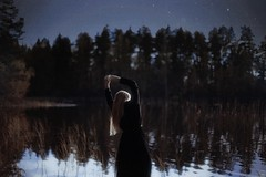 Tuonela (.everlasting) Tags: mystic melancholy water lake tuonela girl portrait delicate blackness feverdreams everlasting