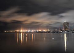 Dusk at the Bay (Tess Manalo) Tags: manilabay ships city lights reflections manila sea teampilipinas