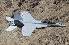 US Navy F/A-18F Super Hornet 166923 (birrlad) Tags: rainbow canyon death valley california usa low level flying flypast flyby aircraft aviation airplane airplanes flyover fast jet fighter attack supersonic us navy fa18f super hornet 166923 nj152