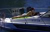 Sunning In Summer (swong95765) Tags: sunshine warm water river tanning woman female bikini relaxing