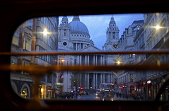 'Ludgate Hill' (andrew_@oxford) Tags: ludgate hill st pauls cathedral london transport rm bus lights dusk