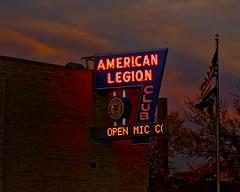 Their Fame is Legion (Pete Zarria) Tags: northdakota bar veterans soldiers sailors war military neon sign